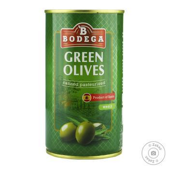 Оливки зелені з кісточкою Bodega 350г