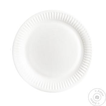 Тарелка белое бумажная 25шт 23см