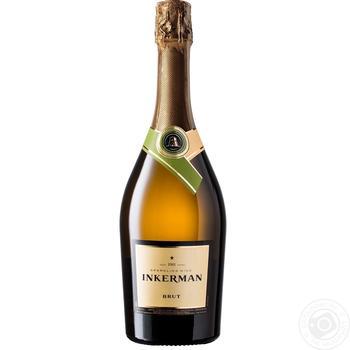 Вино игристое Inkerman Brut белое 11-13% 0,75л