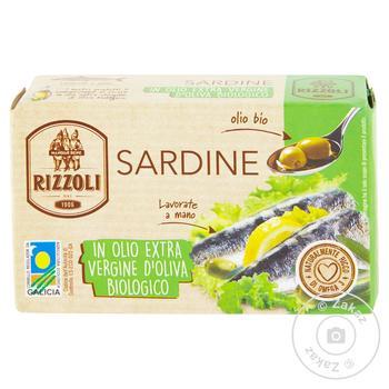 Сардина Rizolli в оливковій олії 120г