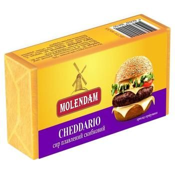 Сыр Molendam cheddario плавленный дольками 70г - купить, цены на Восторг - фото 1