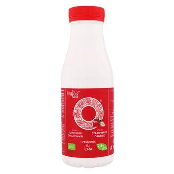Йогурт Organic Milk Клубника 2,5% 300г - купить, цены на СитиМаркет - фото 1