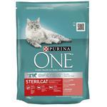 Корм сухий Purina ONE Sterilcat З лососем та пшеницею для кастрованих котів та стерилізованих кішок 200г