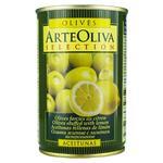 Оливки зелені Arte Oliva з лимоном 300г