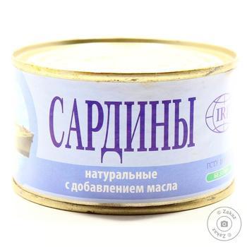 Сардины ИРФ натуральные с добавлением масла 230г - купить, цены на Novus - фото 1