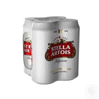 Пиво Stella Artois светлое фильтрованное 4,8% 4*0,5л