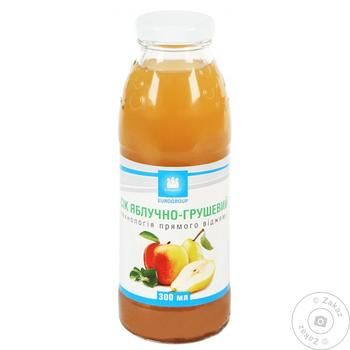 Eurogroup Apple Pear Direct Spin Juice 0.3l