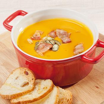 Холодный тыквенный суп с говядиной