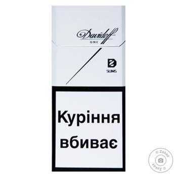 Сигареты Davidoff One Slims - купить, цены на Фуршет - фото 1