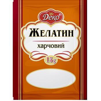 Желатин Деко пищевой 15г