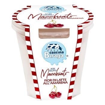 Морозиво Cascina Biraga AgriGelato Пломбір з вишневим смаком 350мл