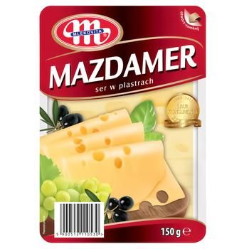 Cheese Mlecovita Mazdamer sliced 45% 150g - buy, prices for Novus - image 1