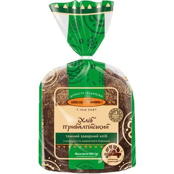 Хлеб Киевхлеб Прибалтийский темный половина нарезка 400г