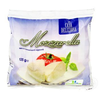 Сыр Casa Deliziosa Моцарелла 125г - купить, цены на Метро - фото 1