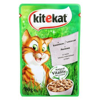 Корм для взрослых котов Kitekat с рыбой в соусе 100г - купить, цены на Ашан - фото 3