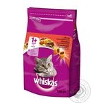 Food Whiskas with beef dry for cats 950g