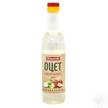 Оцет Дніпрянка яблучний натуральний 6% 0,5л - купити, ціни на Novus - фото 1