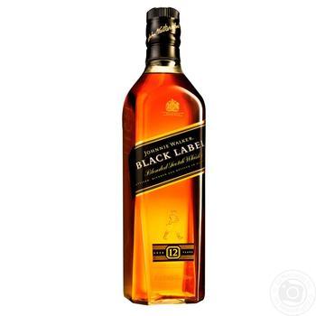 Виски Johnnie Walker Black label 12 лет 40% 0.7л - купить, цены на Фуршет - фото 1