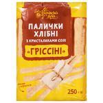 Палочки хлебные Українська Зірка Гриссини с кристалликами соли 250г