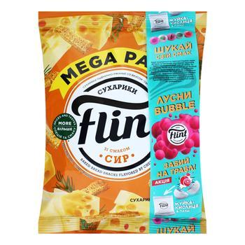 Сухарики Flint пшенично-ржаные со вкусом сыра 110г - купить, цены на Восторг - фото 1