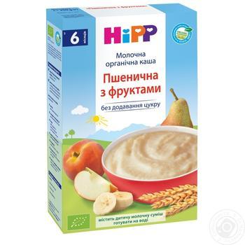Каша детская ХиПП Нежные фрукты пшеничная био-молочная с 6 месяцев 250г - купить, цены на Ашан - фото 5