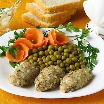 Паровые колбаски из скумбрии