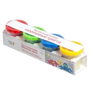 Набор для детской лепки Тесто-пластилин неоновые цвета - купить, цены на Метро - фото 1