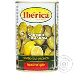 Оливки Iberica с лимоном 300г - купить, цены на Метро - фото 1