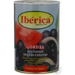 Black olives Iberica with pits 420g