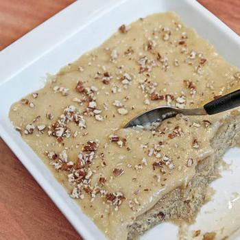 Кофейно-ореховый тортик в микроволновке