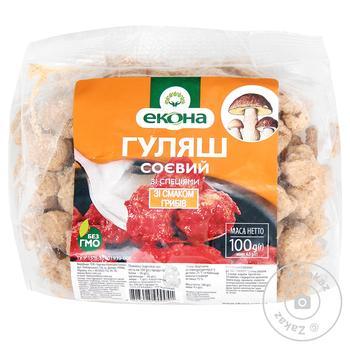Гуляш соєвий Екона зі смаком грибів 100г - купити, ціни на МегаМаркет - фото 1