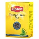 Tea Lipton Yellow label black loose 100g cardboard packaging