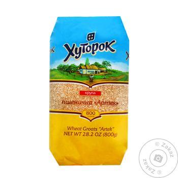 Крупа Хуторок Артек пшеничная 800г - купить, цены на Novus - фото 1