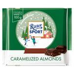 Шоколад молочный Ritter sport с карамелизированным миндалем 100г