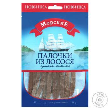 Лосось Морские Палочки сушеные-соленые 36г