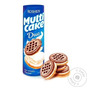 Roshen Multicake Duo cookies with ice cream flavor 180g - buy, prices for EKO Market - photo 1