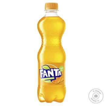 Напій Фанта з апельсиновим соком безалкогольний соковмісний сильногазований пластикова пляшка 500мл Україна - купити, ціни на Фуршет - фото 1