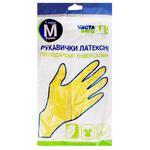 Перчатки Чистая ВыгоДА! резиновые хозяйственные M