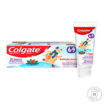 Зубная паста Colgate Клубника-мята Детская с фтором от 6 до 9 лет 60г - купить, цены на Восторг - фото 1