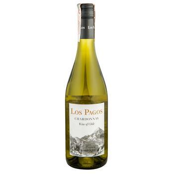 Вино Los Pagos Шардоне белое сухое 12,5% 0,75л
