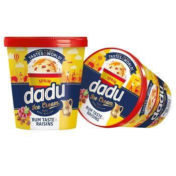 Dadu Spain Ice Cream with Rum Flavor and Raisins 400ml