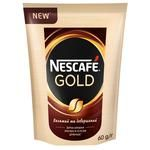 Natural instant sublimated coffee Nescafe Gold 84g Russia
