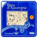 Сыр Livradois Bleu d'Auvergne с голубой плесенью 50% 125г