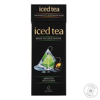 Чай Curtis Iced Tea зеленый с цитрусами 15шт х 1,8г - купить, цены на Восторг - фото 1