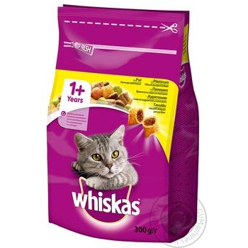 Корм сухой Whiskas для взрослых кошек с курицей 300г