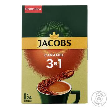 Напиток кофейный растворимый Jacobs Caramel 3в1 15г - купить, цены на Ашан - фото 1