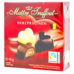 Цукерки Maitre Truffout Herzpraline міні сердечко асорті 45г