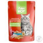 Корм Пан Кот рагу з соковитим кроликом в соусі для котів 100г