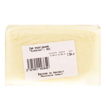 Сыр Сулугуни рассольный 45% - купить, цены на Ашан - фото 1