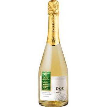 Вино игристое Bostavan Dor белое полусладкое 10,5% 0,75л - купить, цены на Novus - фото 1